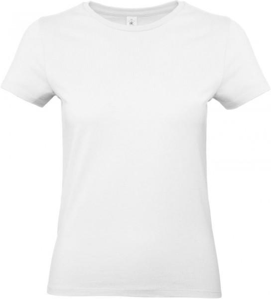 B&C #E190 Women Rundhals T-Shirt inkl. Druck 1-Farbig auf linke Brust
