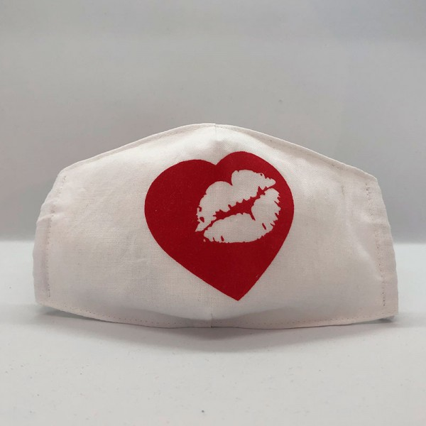 "Gesichtsmaske ""Love and Kiss"""