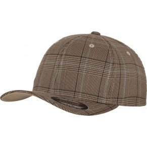 6 Panel Flexfit Glen Check Kappe
